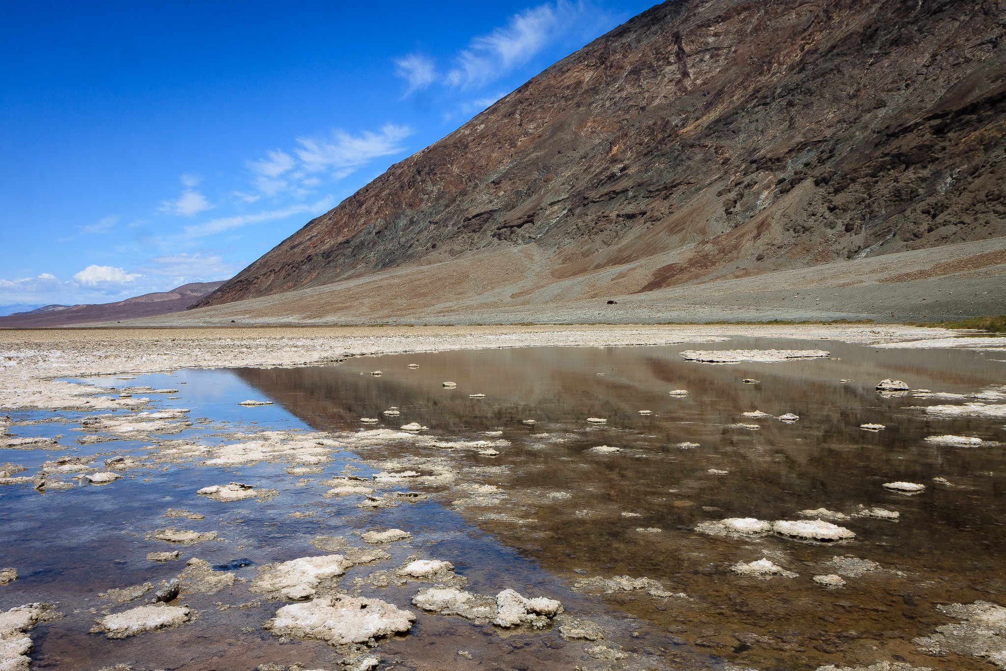 Wet Badwater Basin, Death Valley, USA