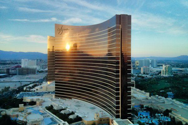 USA - Las Vegas - Ausblick vom Hotelzimmer auf Wynn