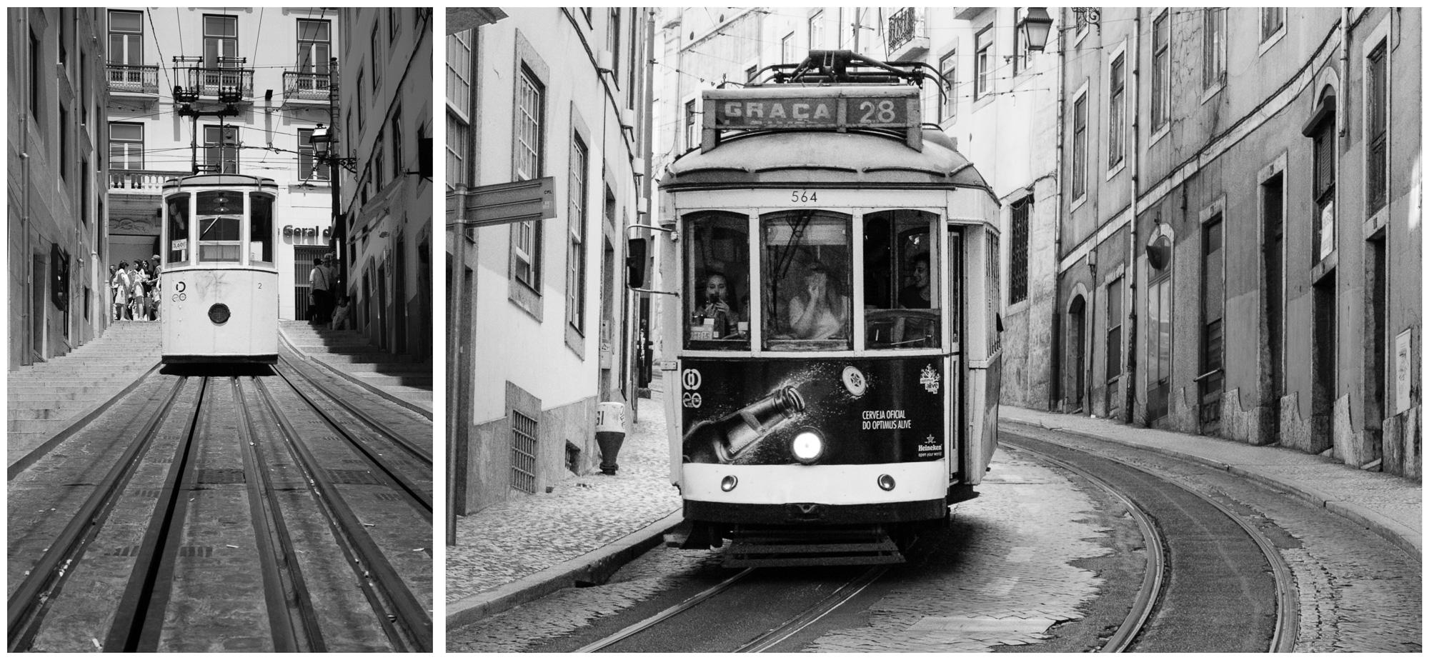 Lissabon - Elevador da Bica / Straßenbahn