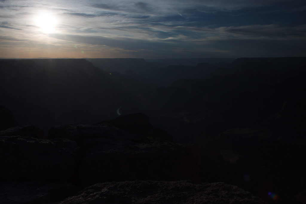 Landschaftsfotografie - Sonne - Fingertechnik